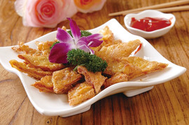 Fried Stuffed Bean Curd Paste