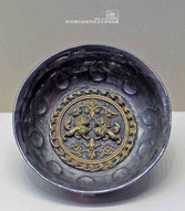 Unearthed Silver Bowl of the Tang Dynasty Decorated with Gold Lions — Shaanxi History Museum