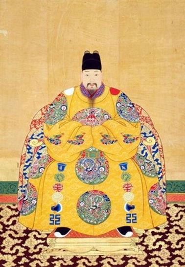 Court Portrait of Jingtai Emperor Zhu Qiyu