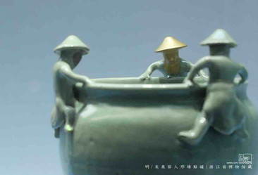 Porcelain Jar with Figurines on Top — Zhejiang Museum