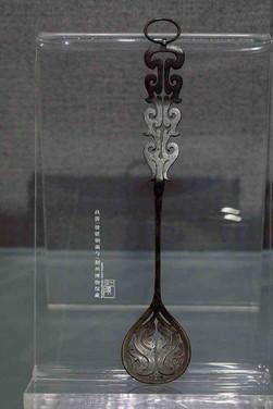 Bronze Inlaying Silver Colander — Jingzhou Museum