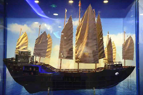 Restored Model of the Main Ship of Zheng He's Fleet