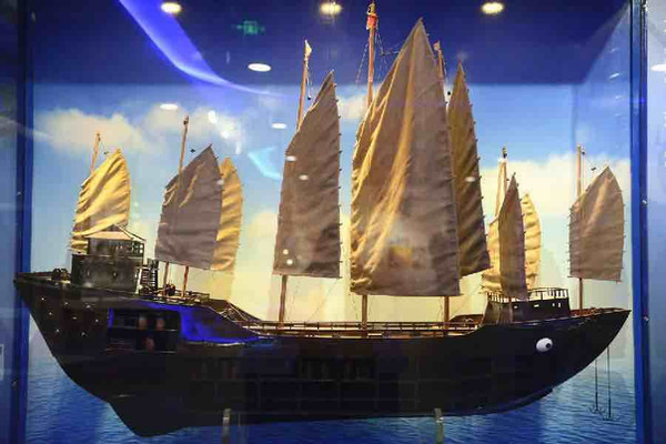 Restored Model of the Main Ship of Zheng He's Fleet