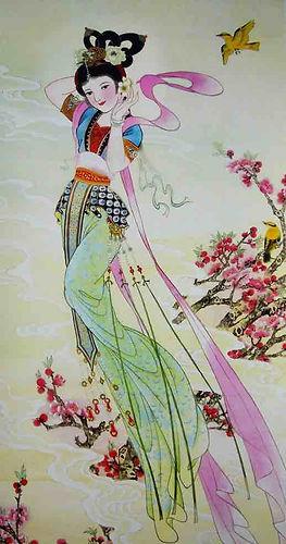 Chinese Flower Goddess of ApricotBlossom