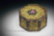 Golden Box of the Qing Dynasty Decorated with Gems