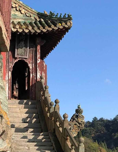 Ancient Building and Censer on Wudang Mountains