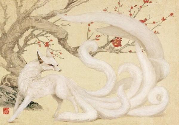 Nine-Tailed Fox Drew by Shi Lin