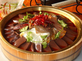 Duck Blood in Chili Sauce