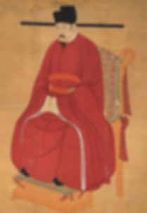 Portrait of Zhao Zhen the Emperor Renzong of Song, by Court Artist of the Song Dynasty