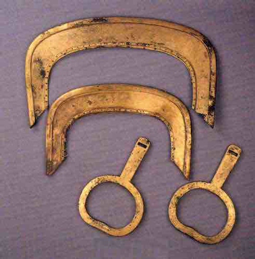 Unearthed Golden Stirrup of Era of Three Kingdoms, Jin, North and South Dynasties