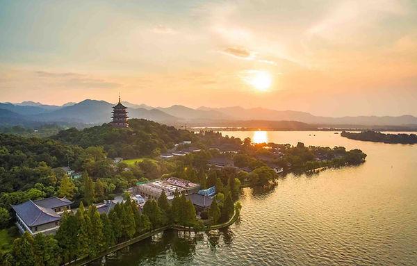 Beautiful West Lake in Hangzhou City