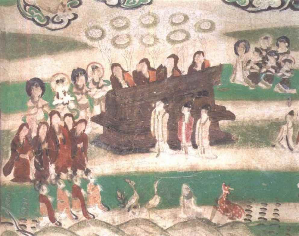Funeral Ceremony, Mogao Cave 61, Photo by Sun Zhijun.