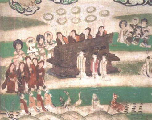 Funeral Ceremony, Mogao Cave 61, Photo by Sun Zhijun.
