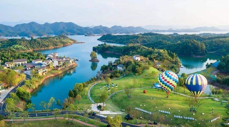 Hot Air Balloons, Comfy Hotels, and Other Recreational Facilities of Qiandao Lake, Photo from Official Site of Thousand Island Lake.