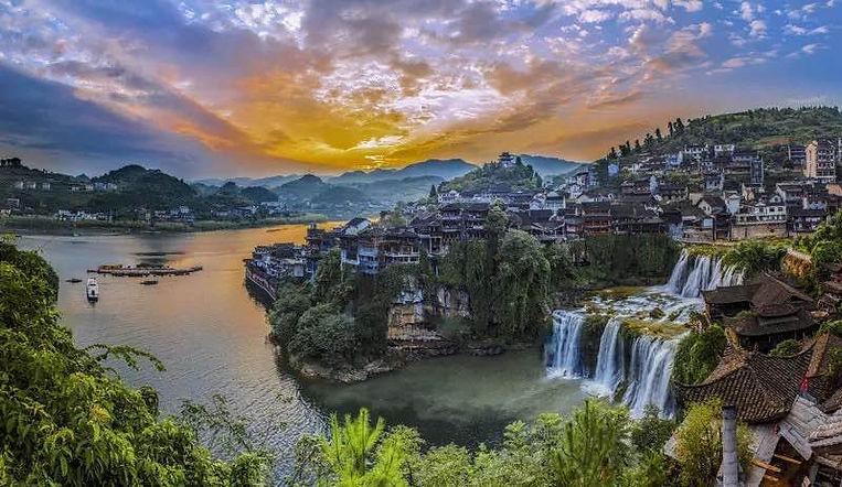 Beautiful Hibiscus Town, or Furong Ancient Town, Near Zhangjiajie and Its Tujia Culture.