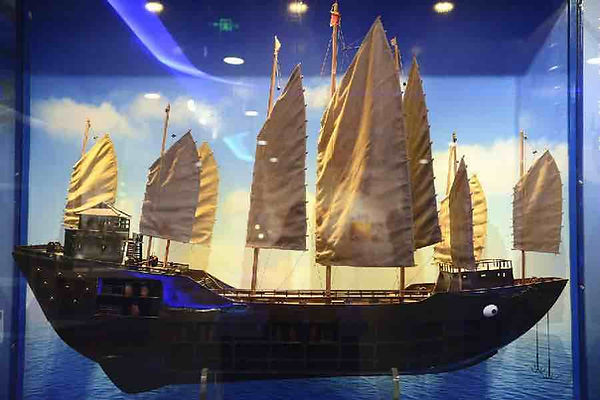Restoration Model of Zheng He's Main Boat in the Ming Dynasty
