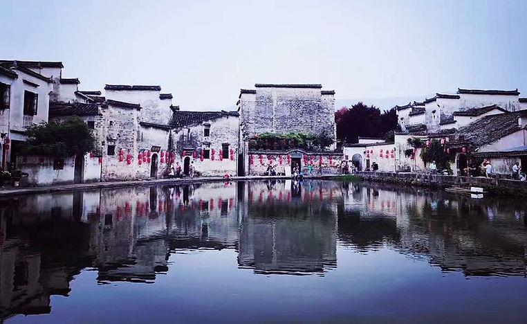Hongcun Villiage at the foot of Huangshan Mountain