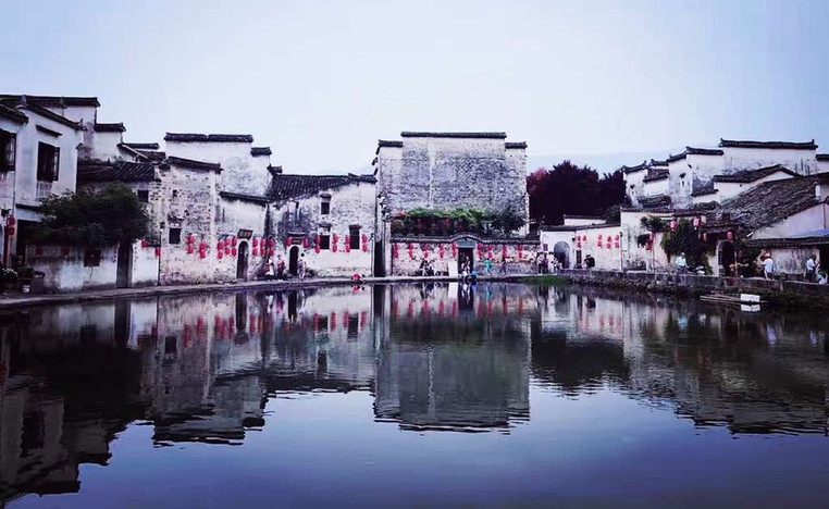 Hongcun Villiage at the foot of Huangshan Mountain