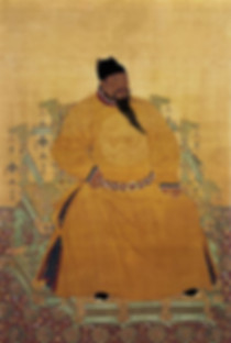 Portrait of Yongle Emperor Zhu Di by Court Painter