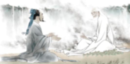 Confucius visiting and consulting Lao Tzu