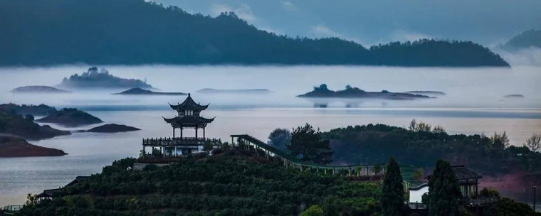 Daxiajiang Villiage of Qiandao Lake, Photo from Official Site of Thousand Island Lake.