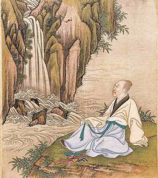 Yongzheng Emperor Wearing Han Clothes in Nature.
