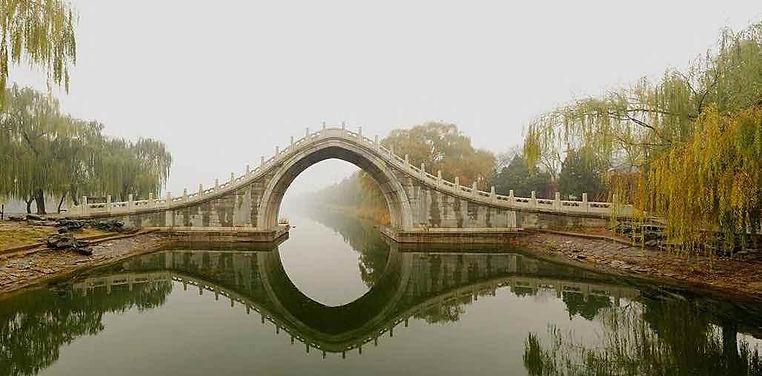 Jade Belt Bridge of the Summer Palace.
