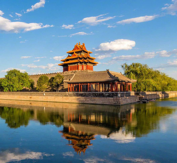 Corner Tower and Moat of the Forbidden City