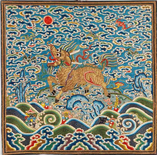 Qilin Buzi on First Rank Military Officer of Reign Period of Yongzheng Emperor (1722 — 1735)