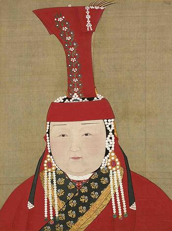Portrait of Queen Chabi, By Artist Liu Guandao of the Yuan Dynasty