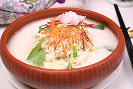 Soup of Chicken and Shrimp and Bamboo Shoots