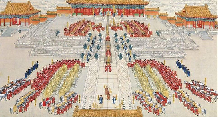 "Part of Painting ""Guangxu Emperor's Wedding Ceremony"""