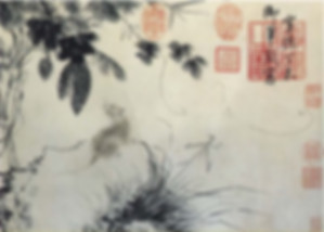 Bitter Gourd and Rat (Gua Shu Tu), Xuande Emperor Zhu Zhanji Painted to Celebrate the Birth of His First Boy