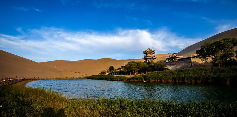 Natural and Cultural Attractions in Dunhuang, An Important City in Gansu Province Along the Silk Road.