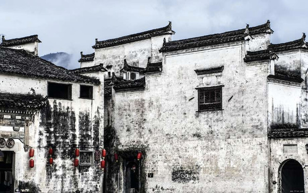 Ancient Dwellings and Streets in Huizhou Ancient City.
