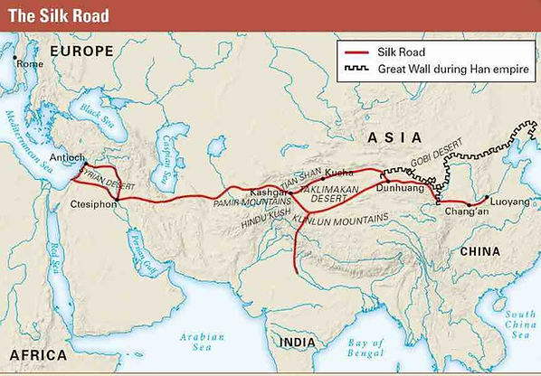 Map of the Silk Road of the Han Dynasty