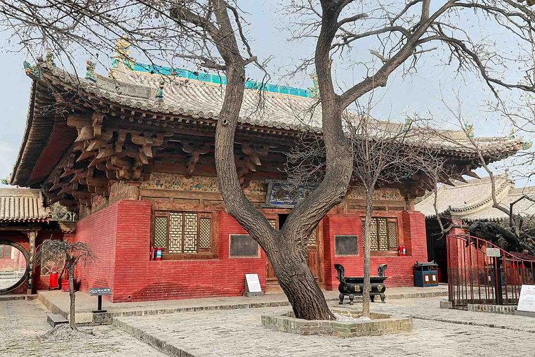 Main Shrine and Ancient Tree of Zhenguo Temple