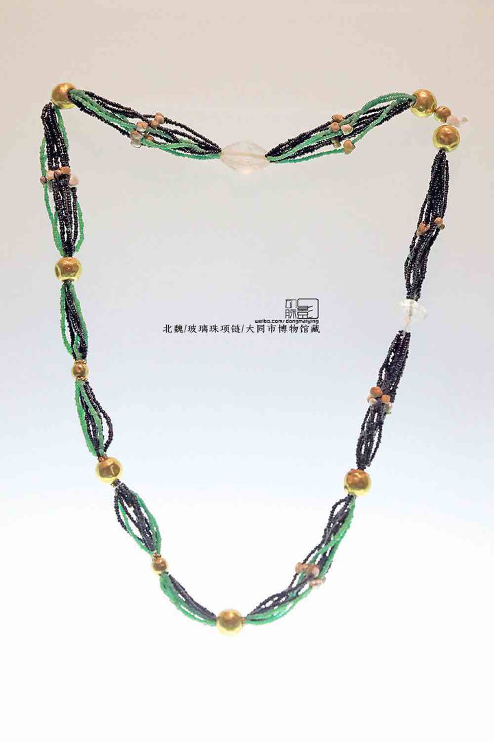 Unearthed Glass Beads Necklace — Datong Museum