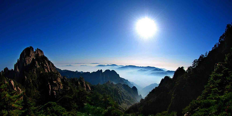 Distant View of Huangshan Mountain, or Yellow Mountain