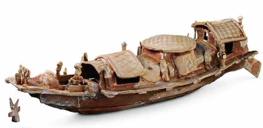 Unearthed Pottery Ship of Han Dynasty — National Museum of China