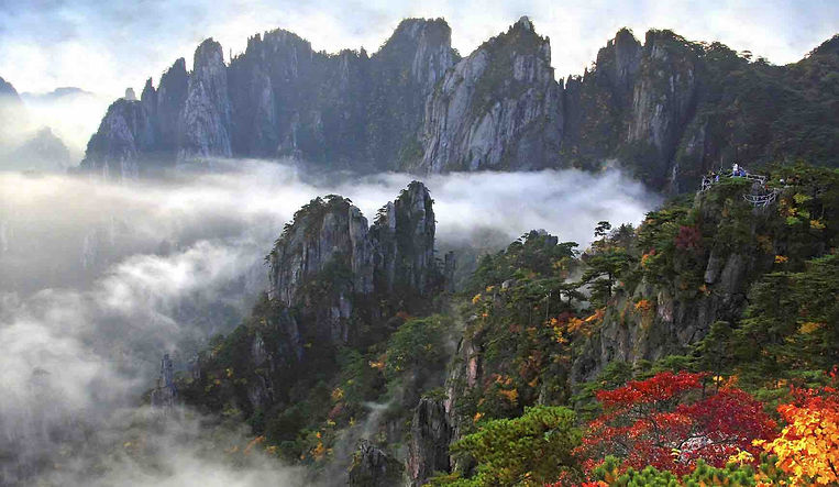 Huangshan Mountain, or Yellow Mountain, in Anhui Province of China.