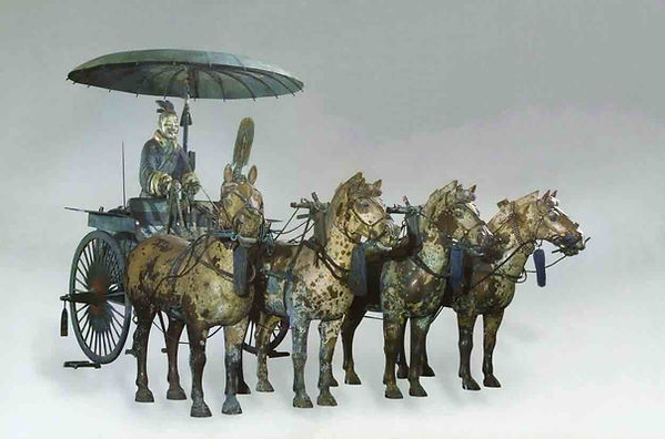 Bronze Chariot Unearthed from the Terracotta Army Pit.