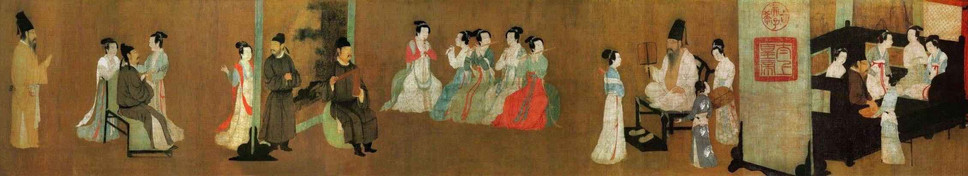 Night Revels of Han Xizai (Part One), by Artist Gu Hongzhong of the Five Dynasties and Ten Kingdoms
