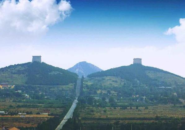 The Mausoleum of Emperor Li Zhi and Empress Wu Zetian — Qianling Mausoleum in Xianyang City, Shaanxi Province