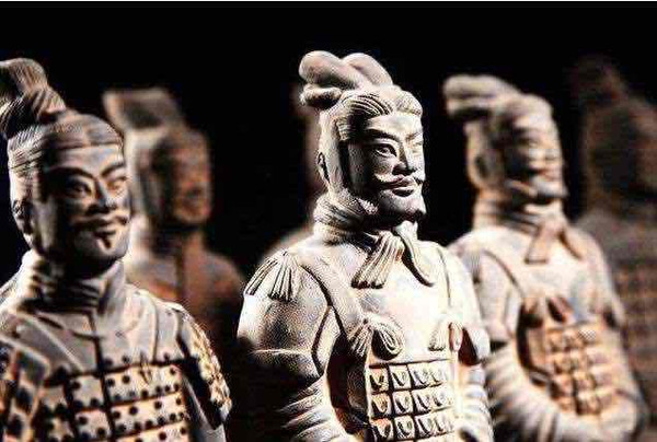 Unearthed Terre Cotta Warriors of the Qin Dynasty
