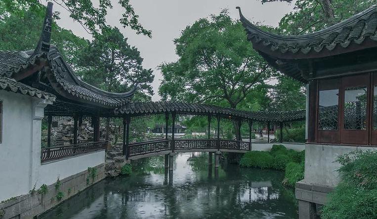Classical Bridge Xiao Fei Hong in Humble Administrator's Garden