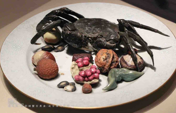 Simulation Porcelain Crab and Fruits of the Qing Dynasty — Palace Museum