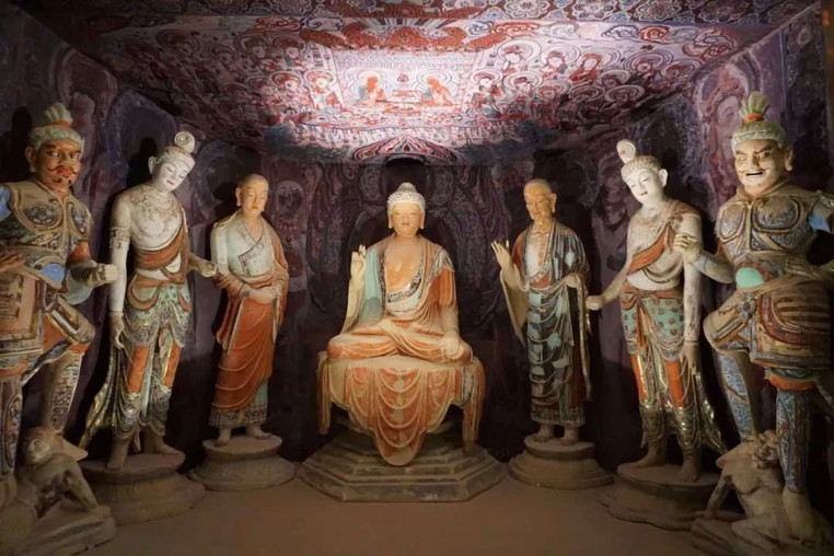 Sculptures and Murals (713 — 766) in the 45th Cave of Mogao