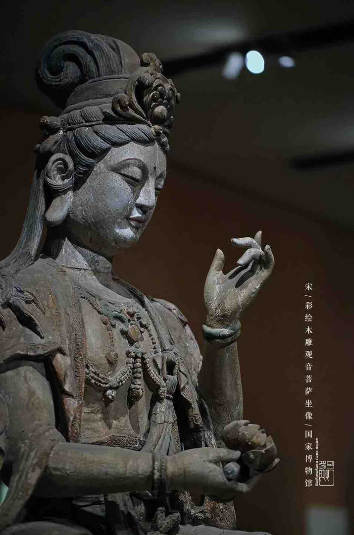 Unearthed Painted Wooden Carved Buddha Statue of the Song Dynasty — National Museum of China