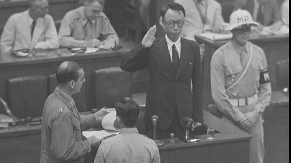 Puyi testifying at the International Military Tribunal for the Far East